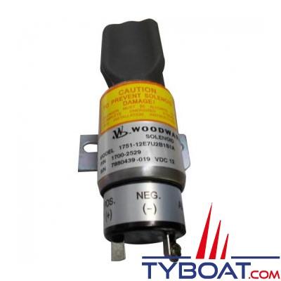 Electro-aimant à noyau mobile (pour arrêt diesel) 24 V - Grande puissance 25 A