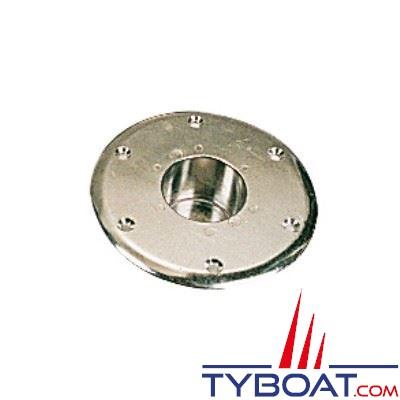 Embase de pied de table aluminium pour Ø 58 mm