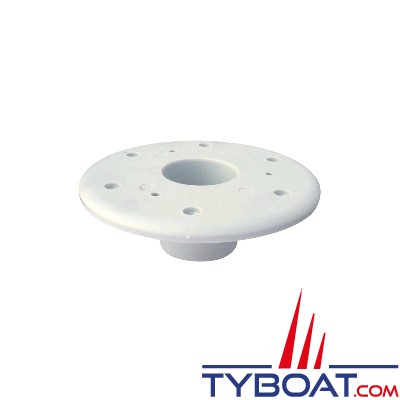 Embase pour pied de table escamotable - à encastrer - Ø190mm h=100mm