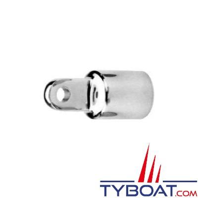 Extrémité de tube de chandeliers Ø22mm oeil Ø 6mm