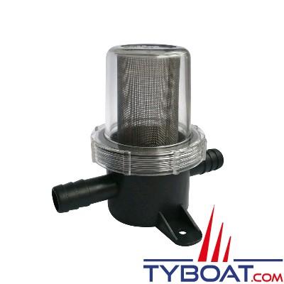Filtre pour protection de pompe à membrane sur circuit d'eau - maille fine entrée/sortie 3/4