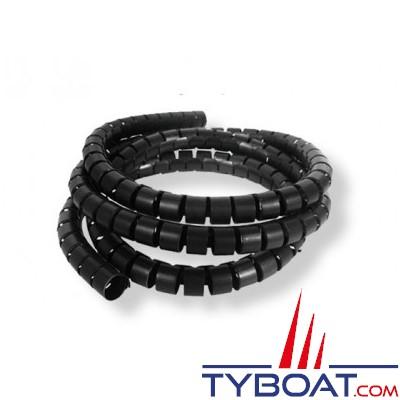 Gaine spiralée noire Ø 10 à 40mm - 25 mètres