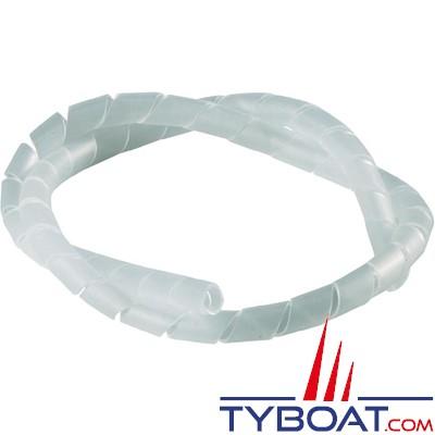 Gaine spiralée transparente - Ø faisceau 10 à 40 mm - couronne de 25 m