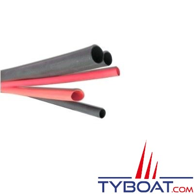 Gaine thermo + colle, auto-adhésive noire STF - Ø  int. 9 mm - longueur 1,2 m