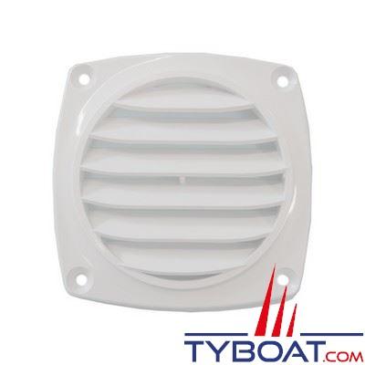 Grille de ventilation en ABS couleur blanc 94 x 94 mm - 10 unités