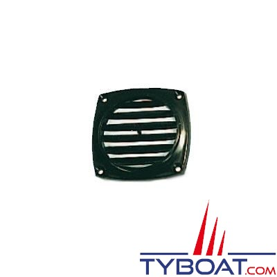 Grille de ventilation en ABS couleur noir 94 x 94mm - à l'unité