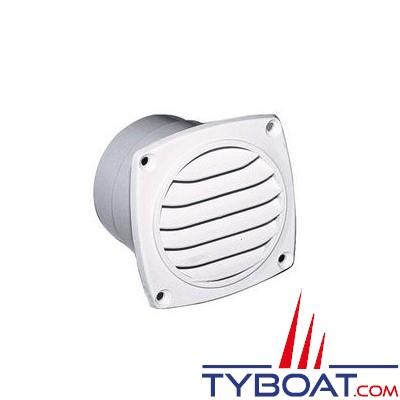 Grille de ventilation nylon à manchonner 127x127mm pour gaine Ø 102mm - Blanche - 1 unité