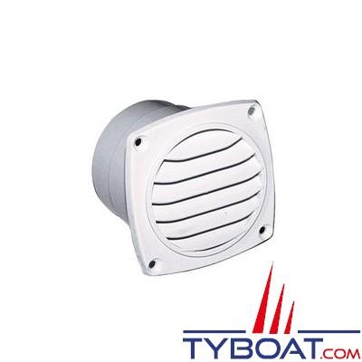 Grille de ventilation nylon à manchonner 92x92 mm pour gaine Ø 76mm - Blanche - 1 unité