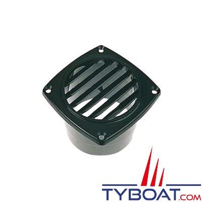Grille de ventilation nylon à manchonner 92x92 mm pour gaine Ø 76mm Noir - 1 unité