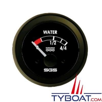 SEIN - Indicateur niveau d'eau - 12 Volts - 10-180 OHM - Ø 52 mm
