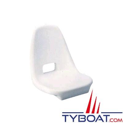 Siège polyethylène blanc antichoc