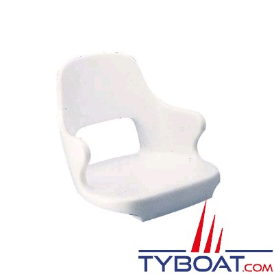 KENT - Siège polyethylène blanc antichoc avec accoudoir