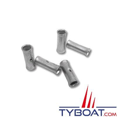 Manchons de jonction à sertir - Ø 10 mm² - L= 29 mm - pour câble souple de 10 mm² - par 10 pièces