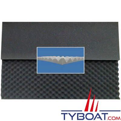 Mousse à picots 2x1mx30mm alvéolée type coquille d'oeuf