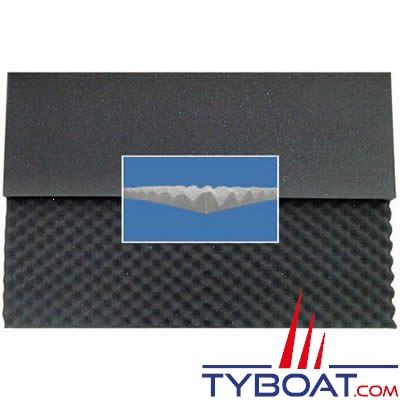 Mousse à picots 2x1mx40mm alvéolée type coquille d'oeuf