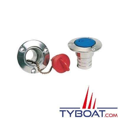 Nable aluminium pour réservoir à carburant bouchon rouge Ø38mm