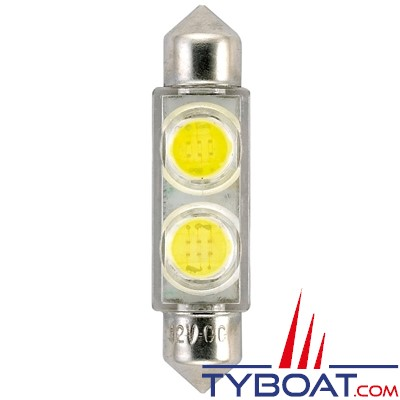Navette LED 12 Volts - 10 x 41 mm - 2 x 0.5 Watts