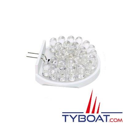 TYBOAT - Ampoule leds G4 - 27 leds - 12 Volts - 2.2 Watts - Lumière blanche