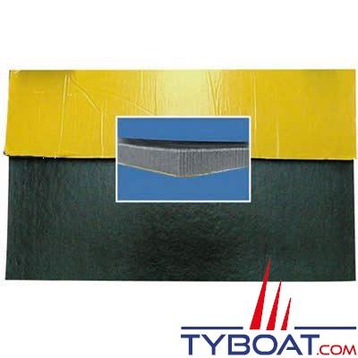 Plaque isolante phonique 1x 1mx 25mm 1 face noire 1 face adhésive