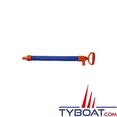 Pompe de cale à main 55cm avec tuyau 80cm
