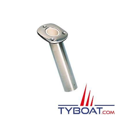 Porte-canne à encastrer en Inox Ø 41 mm profondeur 250mm