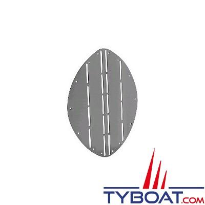 Protection d'étrave inox ovale L.265 x H.345 x Ep.1.5mm