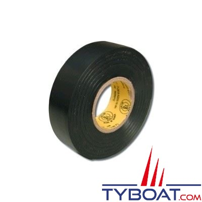 Ruban adhésif - Noir - Longueur 10m X largueur 15mm - Usage tension 600V - temp. max 80° - 1 unité