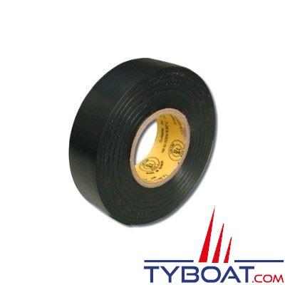 Ruban adhésif noir l19mm x L 20 m. usage tension 600V temp. max 80° - 1 unité
