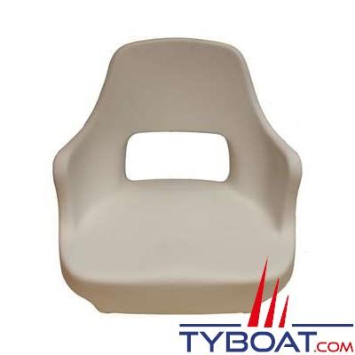 Siège polyethylène blanc antichoc avec accoudoir