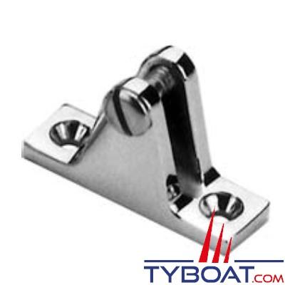 Support forge de tube de chandeliers 18x57mm inclinaison latérale 15°