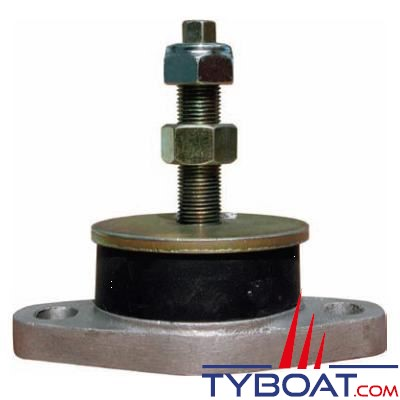 Support moteur cylindrique 72/168kg tige 5/8