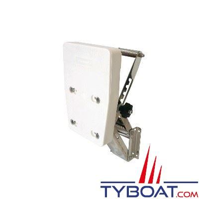 Support moteur hors-bord réglable inox 304L pour moteurs 20CV