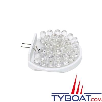 TYBOAT - Ampoule leds G4 - 27 leds - 12 Volts - 2.2 Watts - Lumière du jour