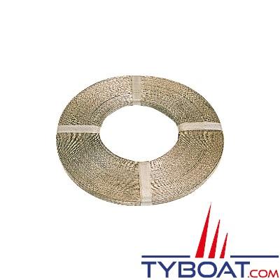 TYBOAT - Bobine tresse de masse - 10 mm² - 75 Ampères - Longueur 25 mètres