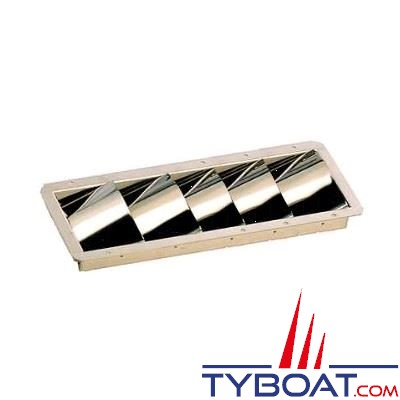 Volet de ventilation inox 5 volets dimensions encastrement 89 x 300mm