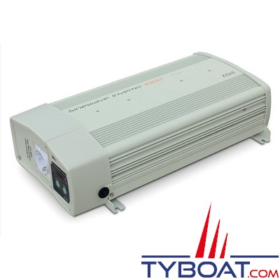 Kisae - Convertisseur Pur Sinus 12/24 Volts CC - 230 Volts AC - 1000 Watts - Relais de transfert 16A intégré