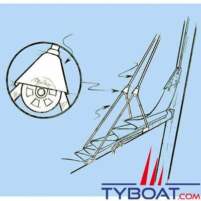 Kit Lazy Jack Barton Marine 3 brins pour voilier jusqu'à 10,50m