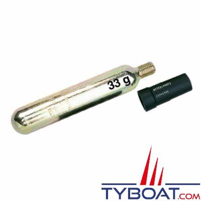 Kit recharge pour gilet gonflable150N Plastimo PRO-Sensor cartouche 33 gr + pastille  de sel
