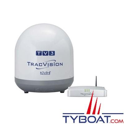 kvh antenne tv par satellite tracvision tv3 dual antenne 37 cm 2 sorties kvh kvh tv tv3d. Black Bedroom Furniture Sets. Home Design Ideas