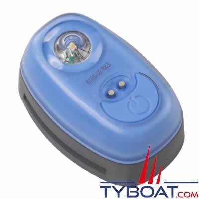 PLASTIMO - Lampe flash automatique W3 SOLAS pour gilets, avec clip de fixation