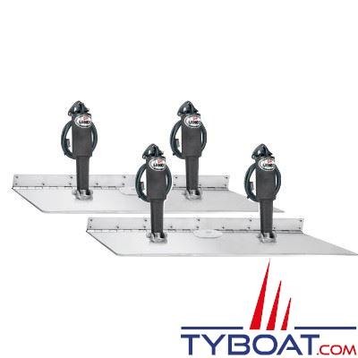 Flaps électriques Lenco TT16x24 Super Strong - force vérin 340Kg - pour bateaux de 15 à 17 m. - 12V sans commutateur