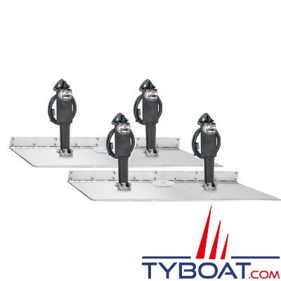 Flaps électriques Lenco TT16x30 Super Strong - force vérin 340Kg - pour bateaux de 16 à 20 m. - 24V sans commutateur