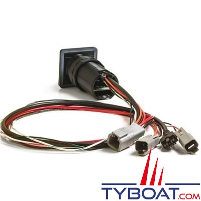 Lenco - (15169-001) Commande standard étanche 2 boutons pour flaps électriques - 12 Volts
