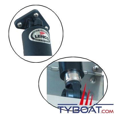 LENCO - Flaps électriques Standard TT12x12  - 12 Volts - 305 x 305 mm - commande non fournie
