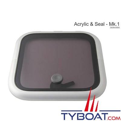 Lewmar - Panneau acrylique de rechange avec joint pour type Low Profile taille 10 MK1
