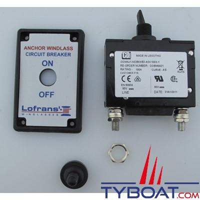 LOFRANS - Coupe circuit Hydraulic-Magnet 100A pour guindeaux - 600028