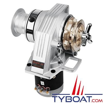 Lofrans - Guindeau horizontal KOBRA - 24 Volts 1000 Watts - Barbotin pour chaîne Ø 10mm DIN 766