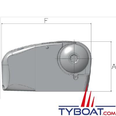 Lofrans - Guindeau horizontal LION 1000 - 12 Volts 700 Watts - Barbotin pour chaîne Ø 6mm ISO4565 ou cordage 10-12 mm, avec chute libre automatique