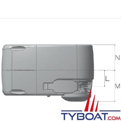 Lofrans - Guindeau horizontal LION 1000 - 12 Volts 700 Watts - Barbotin pour chaîne Ø 8mm ISO4565/DIN766 ou cordage 12 mm, avec chute libre automatique