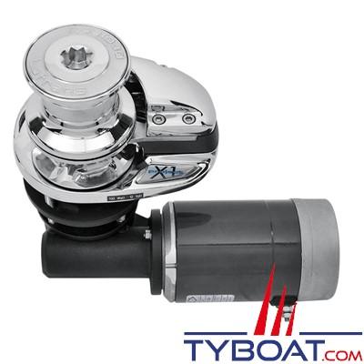 Lofrans - Guindeau Vertical X1 Alu - 12 Volts 500 Watts - avec poupée - Barbotin pour chaîne Ø 6mm ISO4565 DIN766 ou cordage 10-12 mm